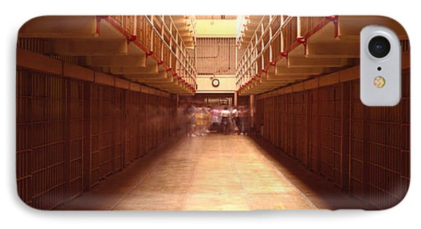 Cell Block In A Prison, Alcatraz IPhone Case by Panoramic Images