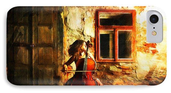 Cellist By Night IPhone Case by Georgiana Romanovna
