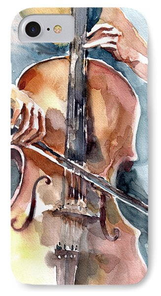 Cellist IPhone Case by Faruk Koksal