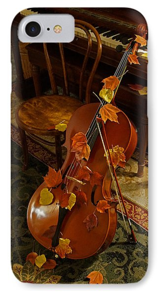 Cello Autumn 1 IPhone Case by Mick Anderson