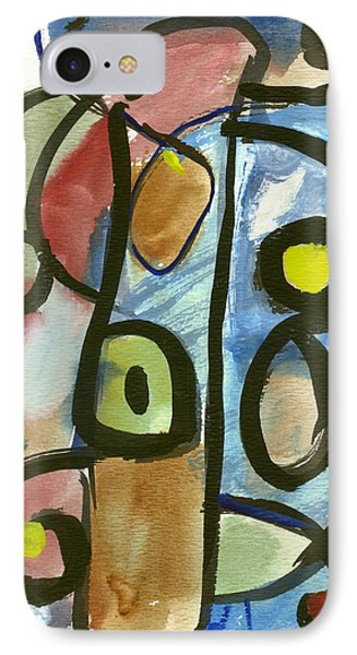 IPhone Case featuring the painting Cello In Blue by Stephen Lucas
