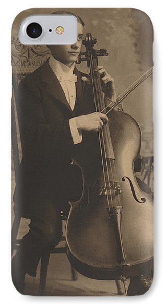 Cello Recital 1890s IPhone Case by Paul Ashby Antique Image