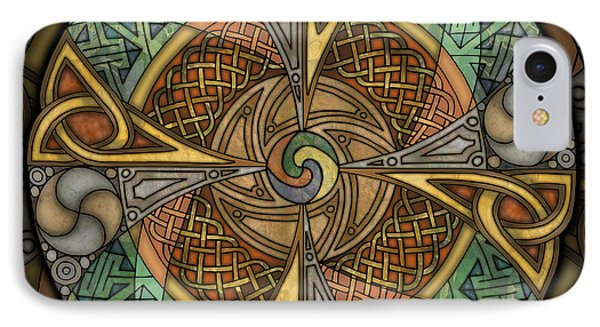 Celtic Aperture Mandala IPhone Case by Kristen Fox