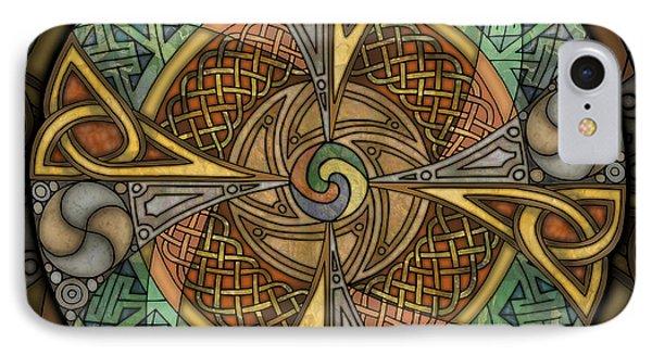 Celtic Aperture Mandala IPhone Case