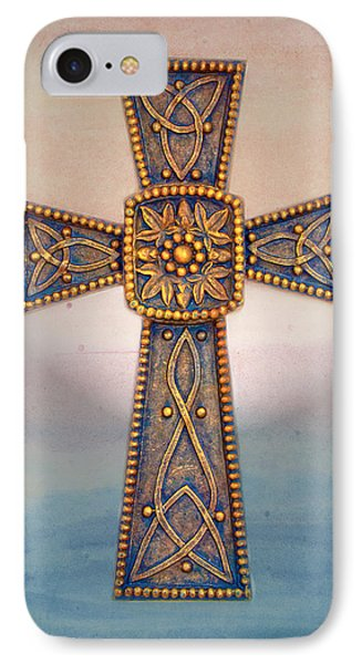 Celtic Cross Sunrise Phone Case by Sandi OReilly