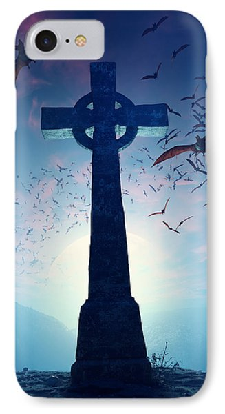 Celtic Cross With Swarm Of Bats IPhone 7 Case