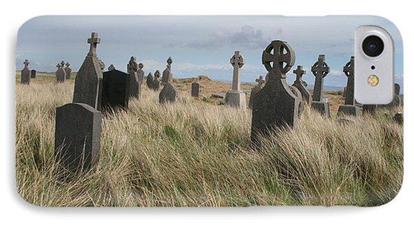 IPhone Case featuring the photograph Celtic Crosses Aran Island Cemetary by Melinda Saminski