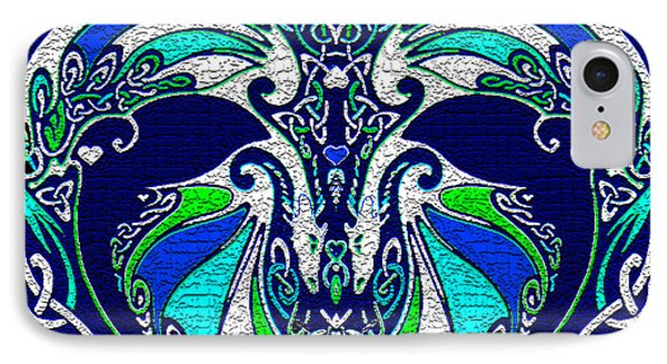 Celtic Love Dragons IPhone Case