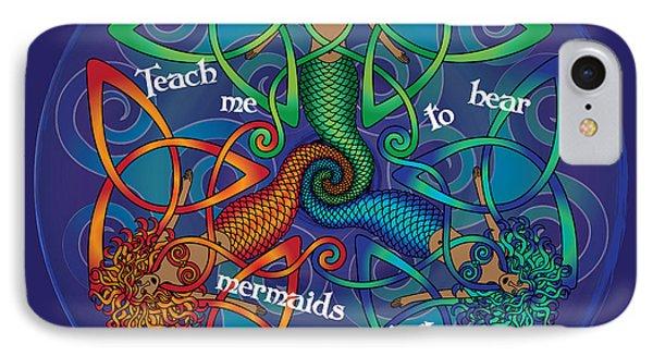 Celtic Mermaid Mandala IPhone Case by Celtic Artist Angela Dawn MacKay