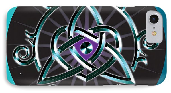 Celtic Triquetra Heart IPhone Case by Ireland Calling