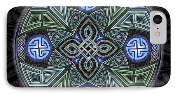 Celtic Ufo Mandala IPhone Case by Kristen Fox