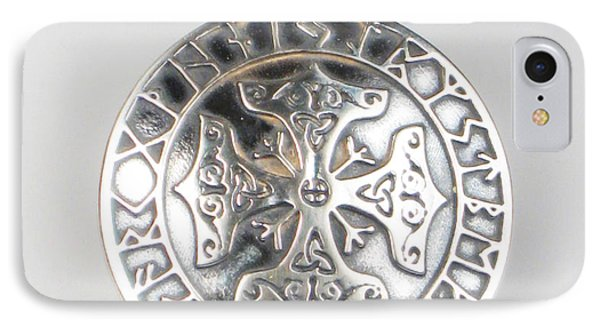 IPhone Case featuring the jewelry Celtic Viking Cross Rune Calendar by Vagabond Folk Art - Virginia Vivier