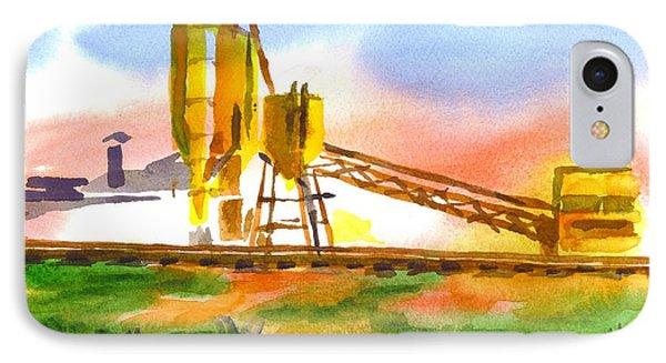 Cement Plant Across The Tracks Phone Case by Kip DeVore