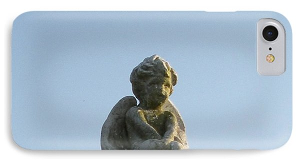IPhone Case featuring the photograph Cemetery Cherub by Joseph Baril