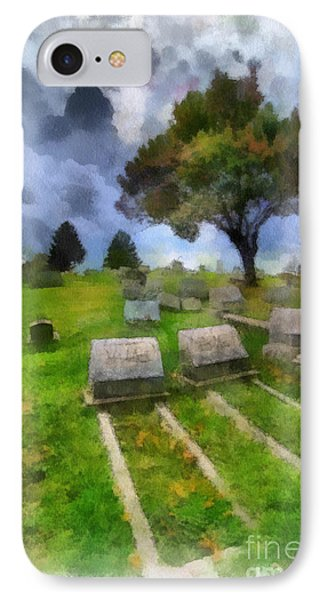Cemetery Clouds Phone Case by Amy Cicconi