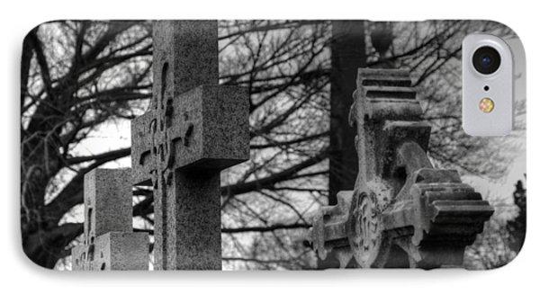 Cemetery Crosses Phone Case by Jennifer Ancker