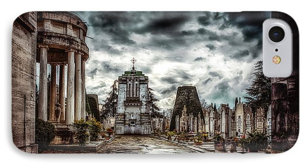 Cemetery Of Mantova  IPhone Case by Traven Milovich