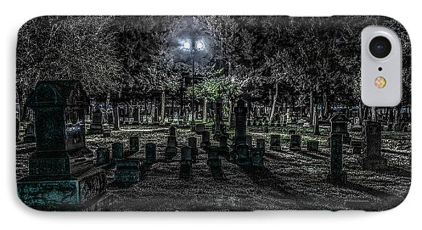 Cemetery  IPhone Case by Ray Congrove