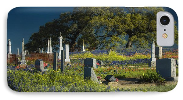 Cemetery Wildflowers IPhone Case by Richard Mason