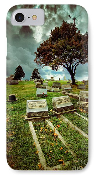 Cemetery With Ominous Sky IPhone Case