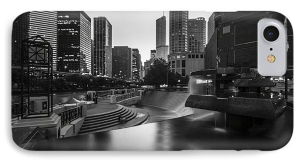 Centennial Fountain In Black And White IPhone Case by Sven Brogren