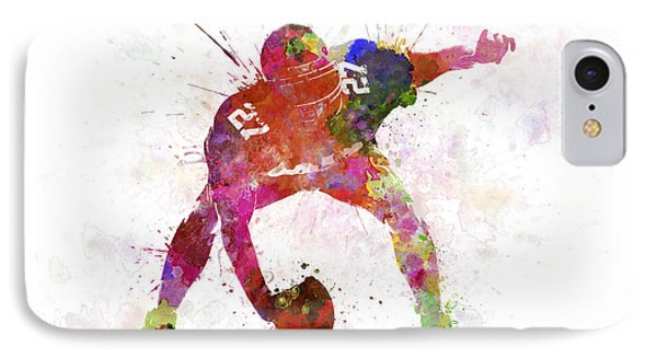Center American Football Player Man IPhone Case by Pablo Romero