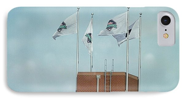 Center Field Flags Phone Case by Terry Weaver