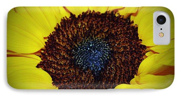 Center Of A Sunflower Phone Case by Cynthia Guinn
