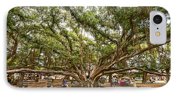 Central Court - Banyan Tree Park In Maui. IPhone Case by Jamie Pham