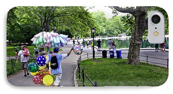 Central Park Balloon Man Phone Case by Madeline Ellis