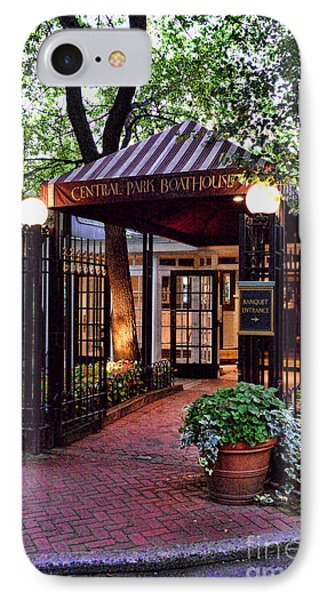 Central Park Boathouse IPhone Case by Paul Ward