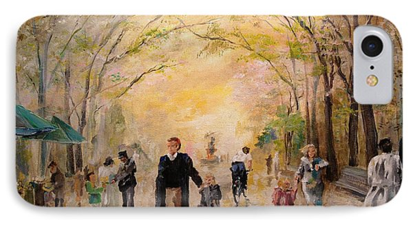Central Park Early Spring IPhone Case by Alan Lakin