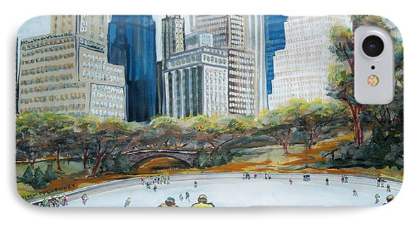 Central Park Ice Rink Phone Case by Mitchell McClenney