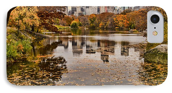 Central Park In The Fall New York City IPhone Case by Sabine Jacobs