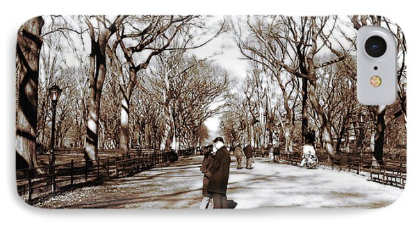 Central Park Kiss Phone Case by John Rizzuto
