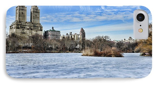 Central Park Lake Looking West Phone Case by Paul Ward