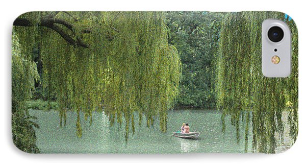 Central Park Lazy Afternoon IPhone Case by Muriel Levison Goodwin