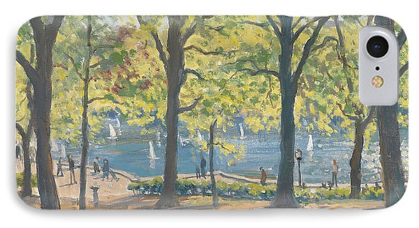 Central Park New York IPhone Case by Julian Barrow
