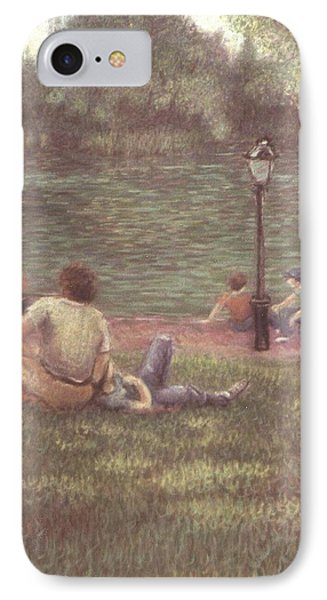 IPhone Case featuring the painting Central Park Nyc by Walter Casaravilla