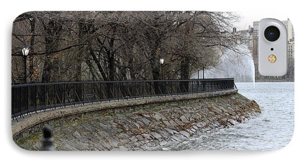 IPhone Case featuring the photograph Central Park Reservoir  Color by Chris Thomas