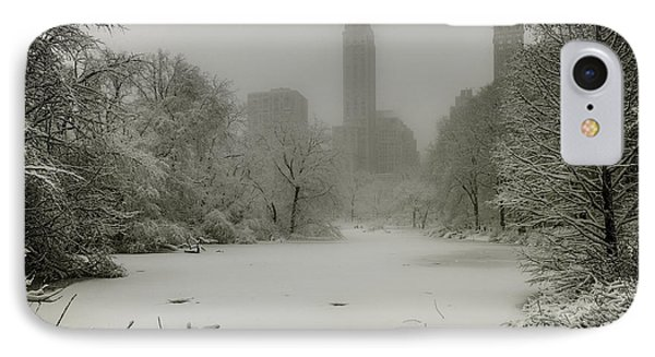 IPhone Case featuring the photograph Central Park Snowstorm by Chris Lord