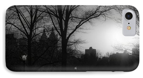Central Park Sunset In Black And White 3 IPhone Case by Marianne Campolongo