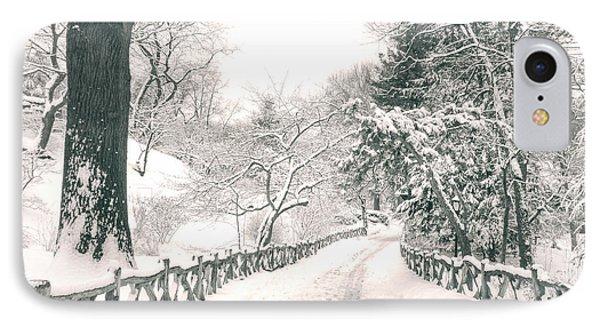 Central Park Winter Landscape IPhone Case by Vivienne Gucwa