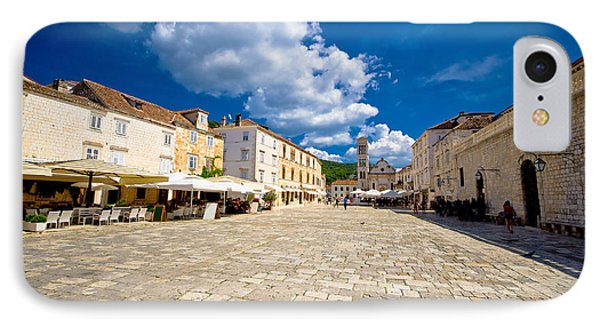 Central Pjaca Square Of Hvar Town IPhone Case