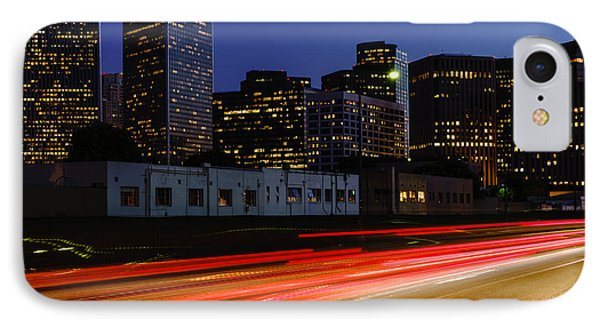 Beverly Hills iPhone 7 Case - Century City Skyline At Night by Paul Velgos