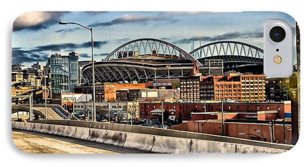 IPhone Case featuring the photograph Century Link Field Seattle Washington by Michael Rogers