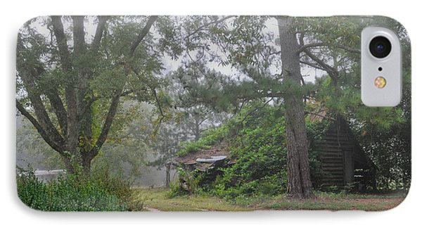 IPhone Case featuring the photograph Century-old Shed In The Fog - South Carolina by David Perry Lawrence