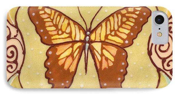 Ceramic Butterfly IPhone Case by Anna Skaradzinska