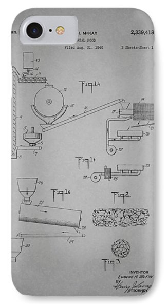 Cereal Food Machine Patent 1944 IPhone Case by Mountain Dreams