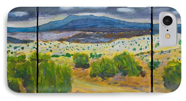 IPhone Case featuring the painting Cerrillos Spring by John Hansen